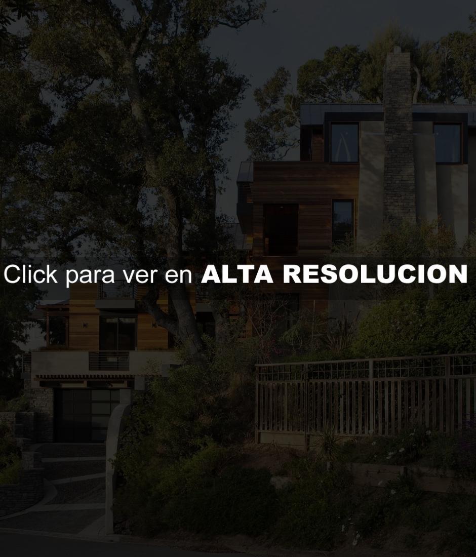 Fachada de casa de multiples niveles fachadas de casas - Chalet de madera y piedra ...